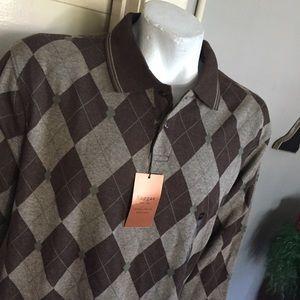 NWT Haggar  harlequin shirt
